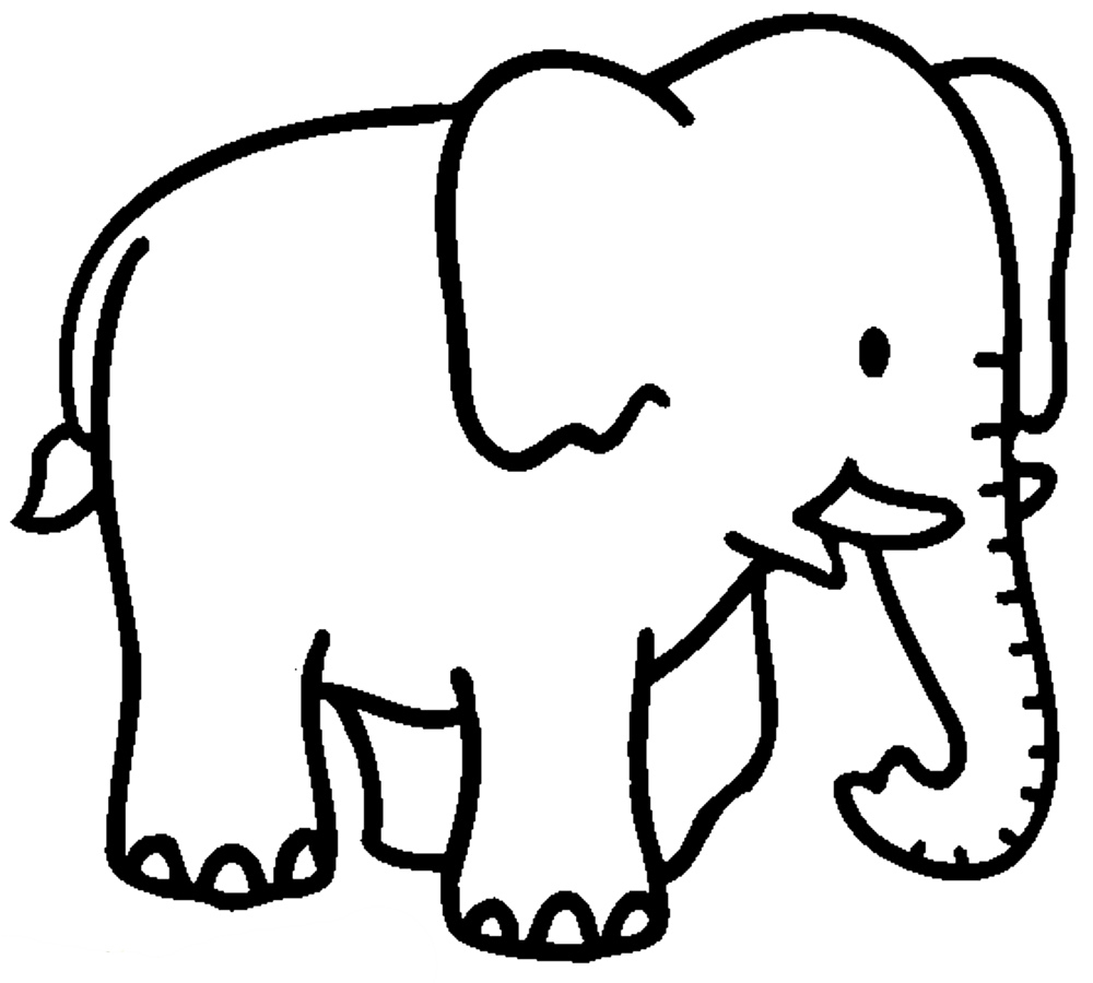 elephant outline coloring page elephant baby drawing at getdrawings free download coloring outline elephant page