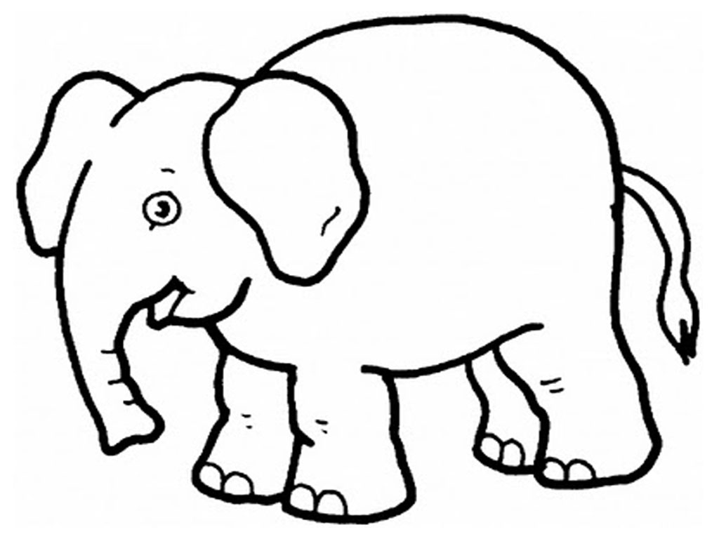 elephant outline coloring page elephant coloring page tracing twisty noodle elephant outline coloring page