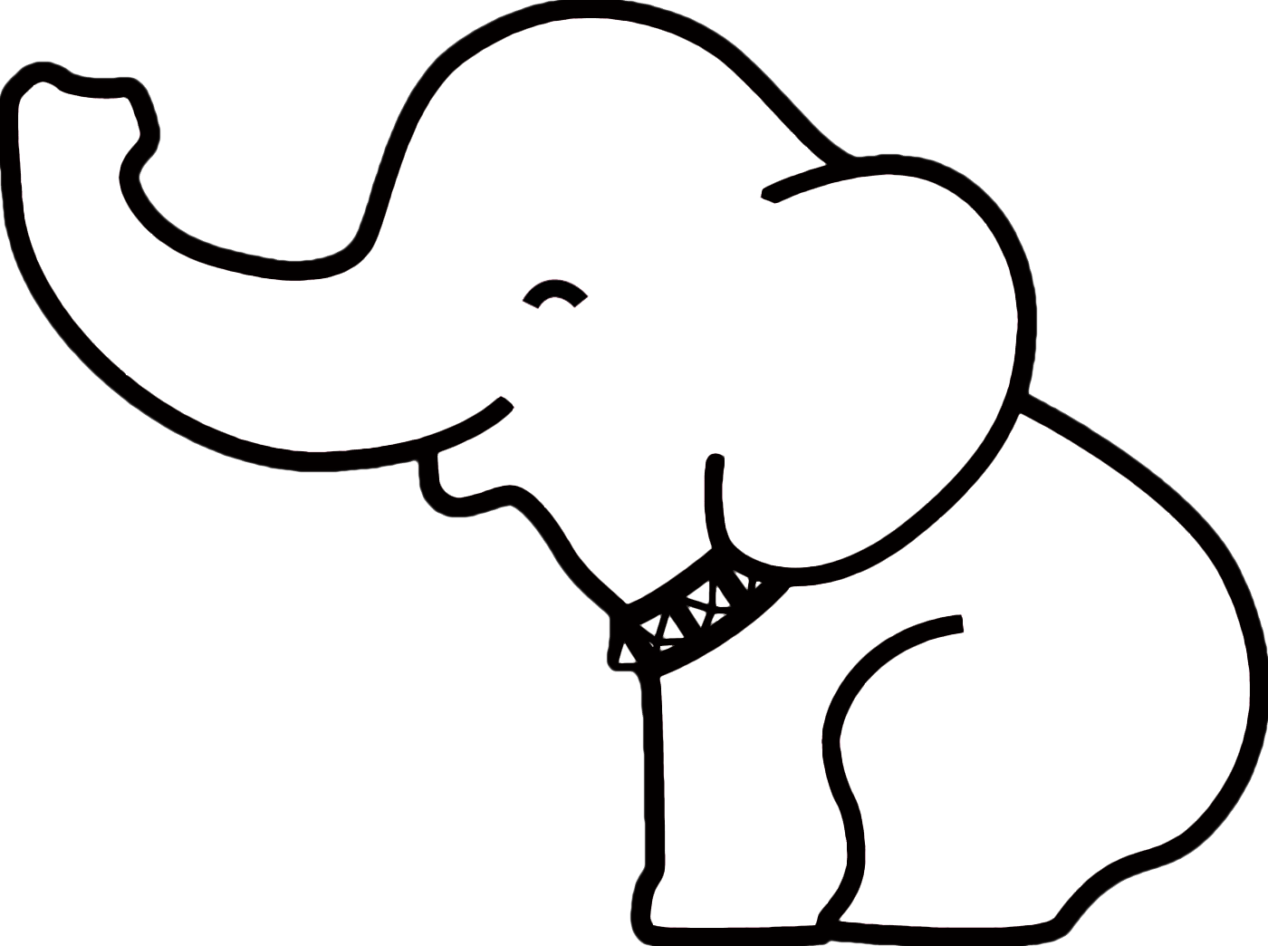 elephant outline coloring page elephant drawing outline at getdrawings free download coloring elephant outline page