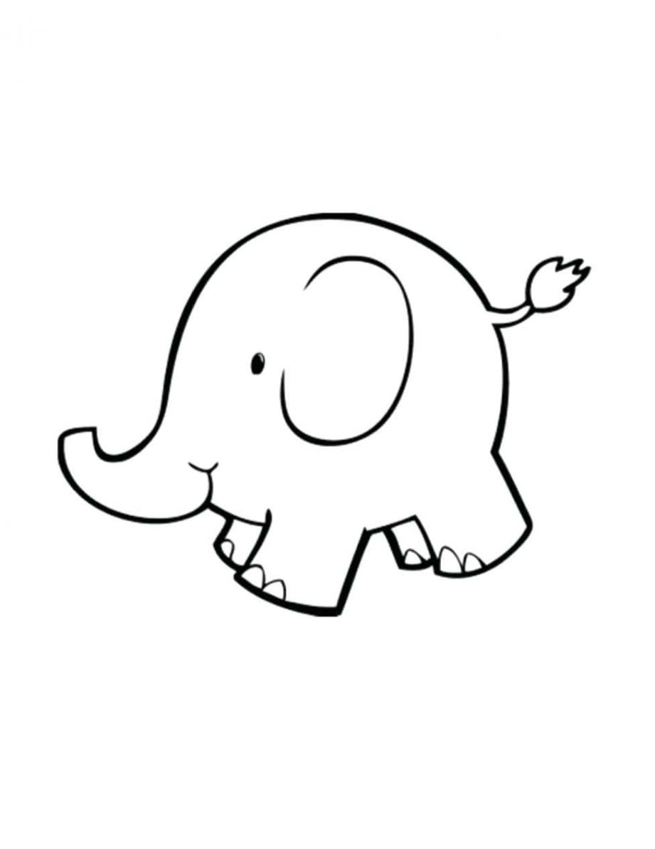 elephant outline coloring page elephant outline clipartioncom page outline coloring elephant