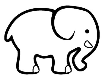 elephant outline coloring page elephant outline clipartsco coloring outline page elephant 1 1