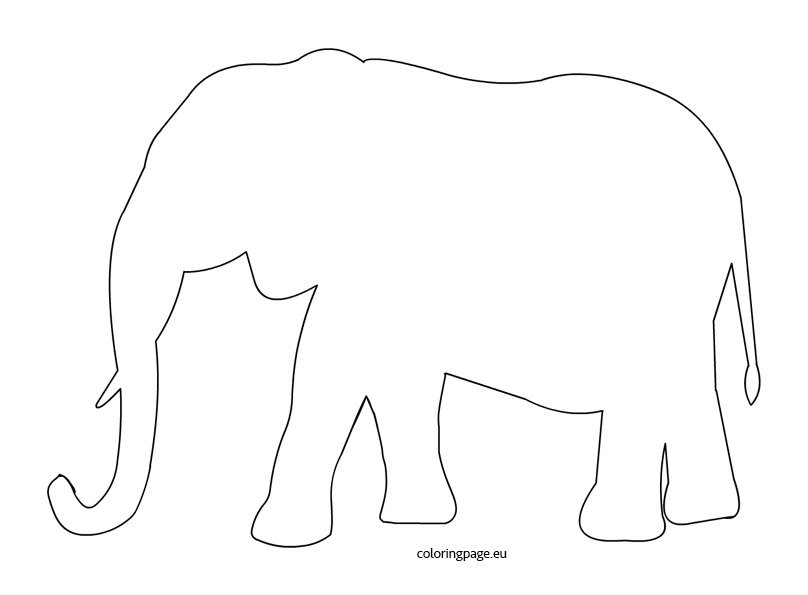elephant outline coloring page free elephant coloring pages elephant outline page coloring