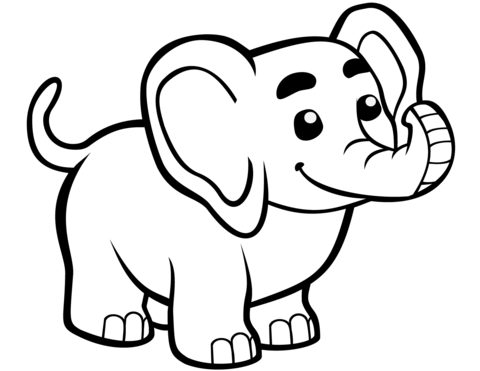 elephant outline coloring page simple elephant outline coloring home page coloring outline elephant