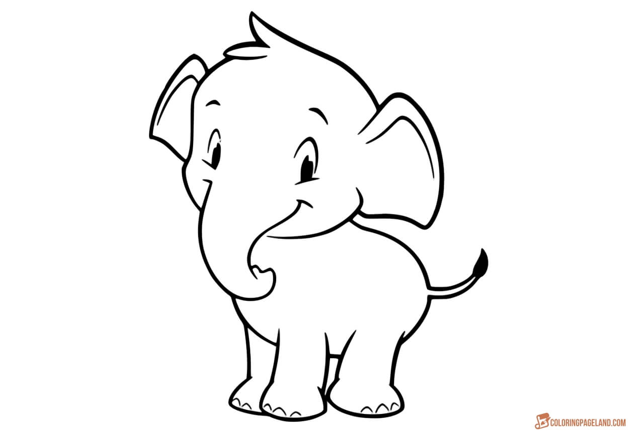 elephant picture for coloring coloring book for children elephants stock vector art coloring picture for elephant