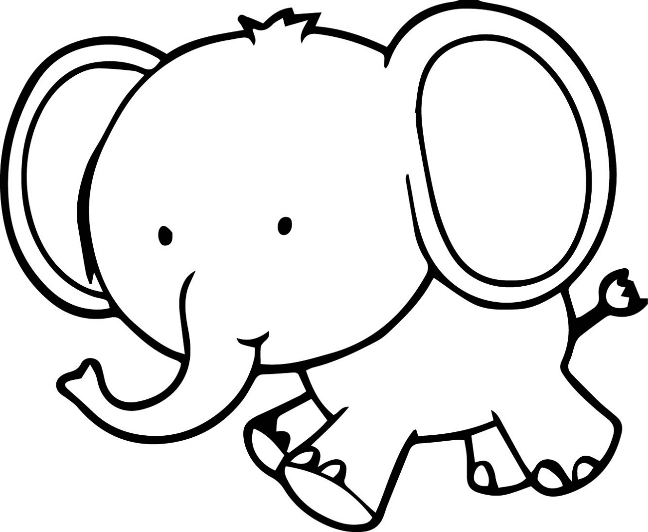 elephant picture for coloring elephant coloring pages for kids preschool and coloring picture elephant for