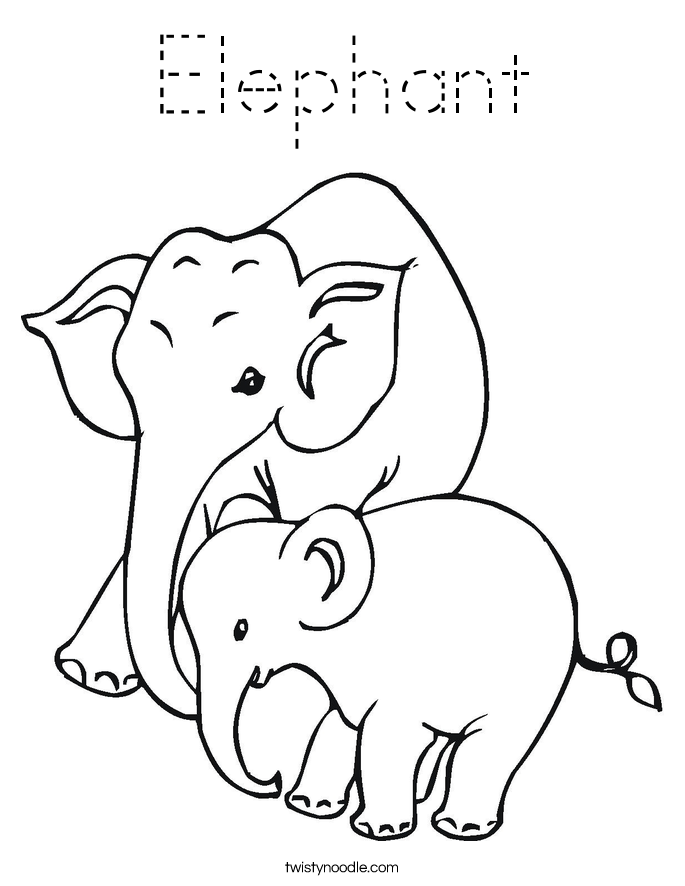 elephant picture for coloring elephant coloring pages for kids printable for free coloring for elephant picture