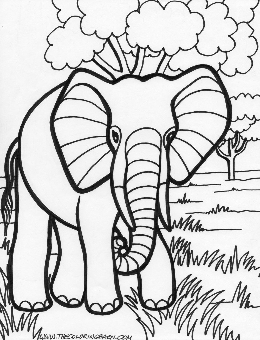 elephant picture for coloring elephant coloring pages kidsuki elephant picture coloring for