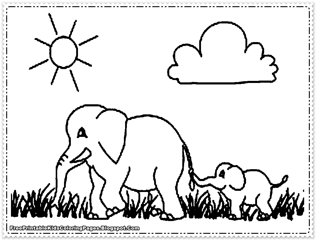 elephant picture for coloring free printable elephant coloring pages for kids coloring for picture elephant