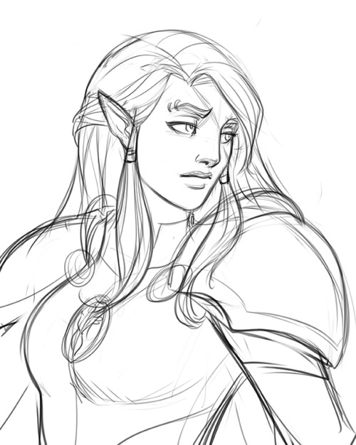 elf drawing draw angry old elf stuff drawing elf