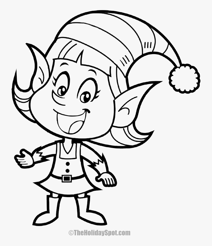 elf drawing easy to draw girl christmas elves hd png download drawing elf