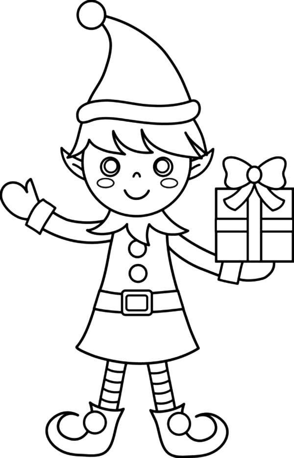 elf drawing elf line drawing at getdrawings free download elf drawing