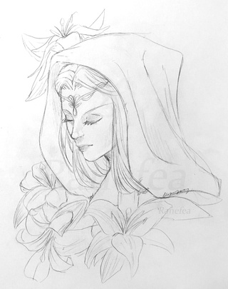 elf drawing elves elf elven fantasy art drawing elf