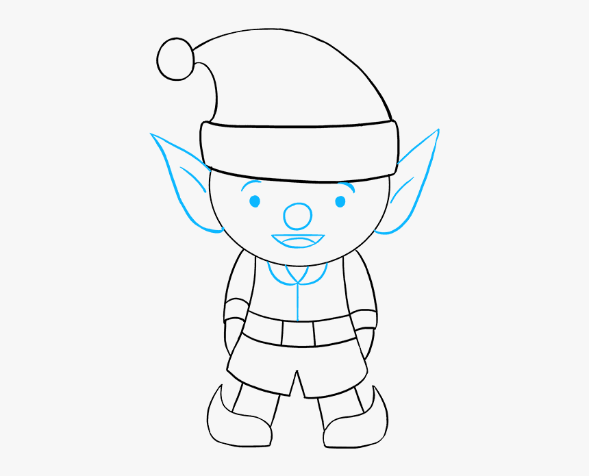 elf drawing how to draw elf elf drawing easy hd png download elf drawing