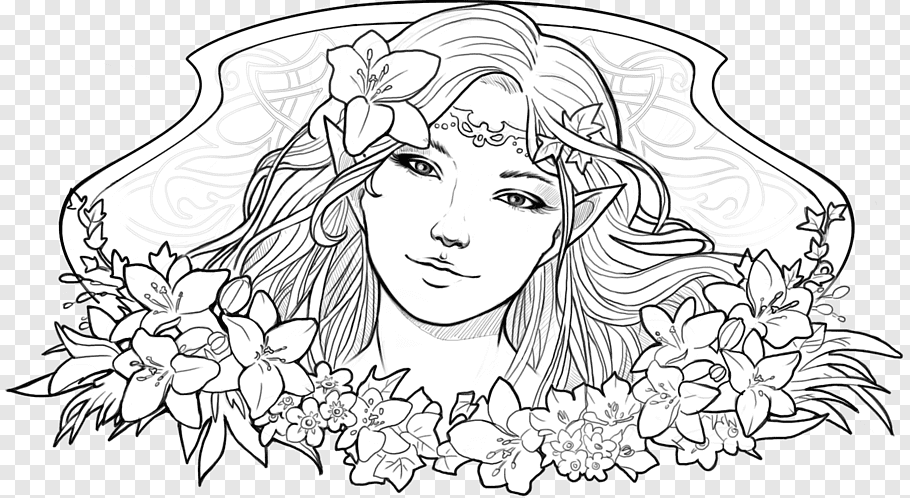 elf drawing line art elf drawing fairy lineart png pngwave drawing elf