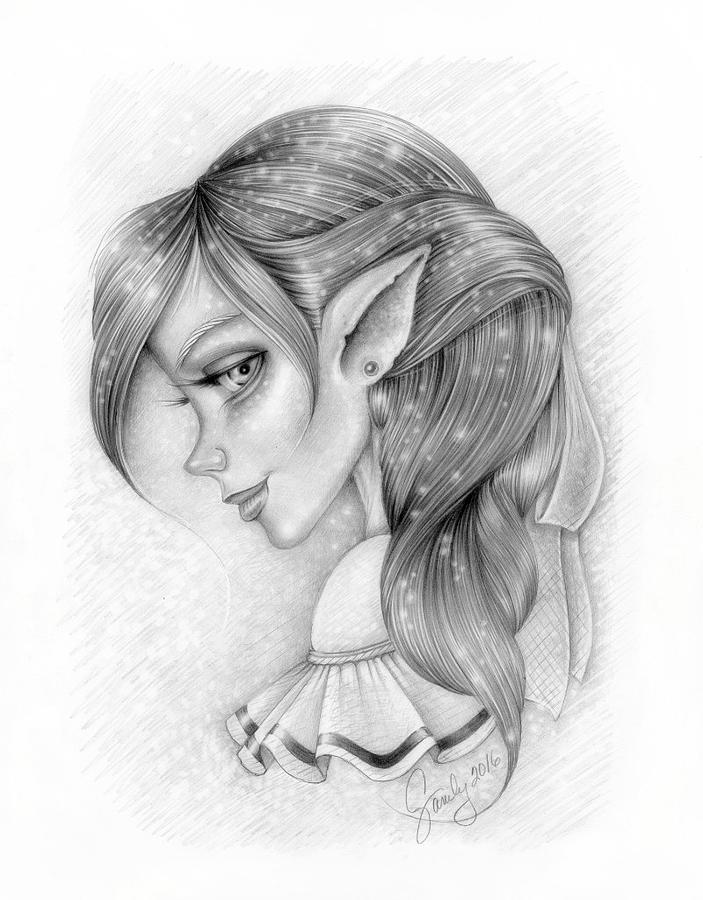 elf drawing night elf drawing at paintingvalleycom explore elf drawing