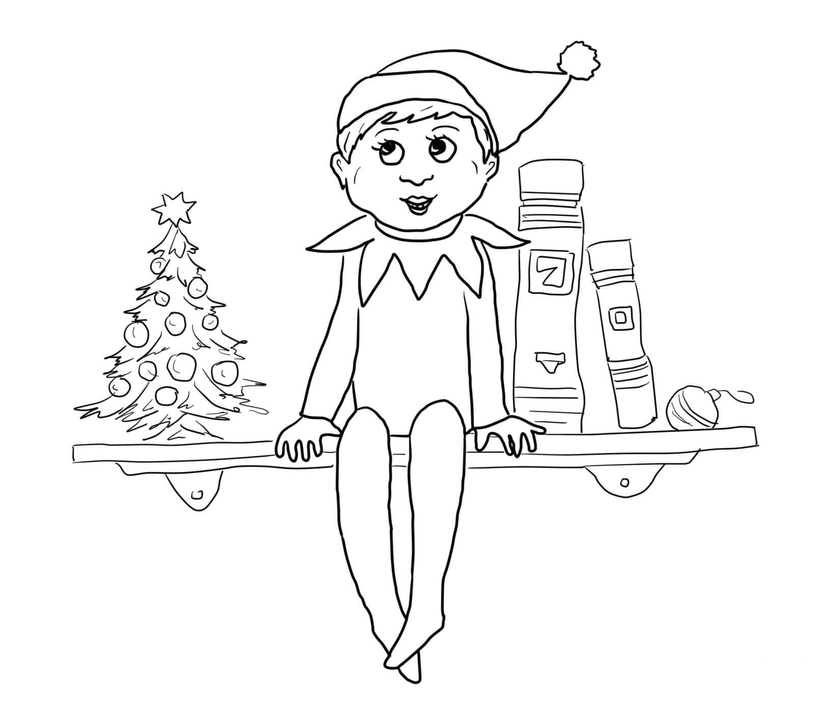 elf on the shelf pictures to color 30 free printable elf on the shelf coloring pages shelf pictures elf color on to the