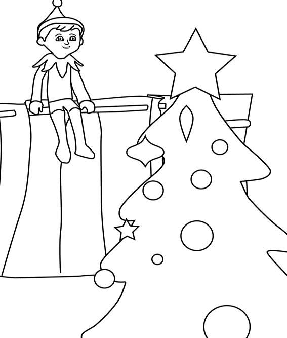elf on the shelf pictures to color christmas coloring pages christmas coloring pages shelf to pictures the on elf color