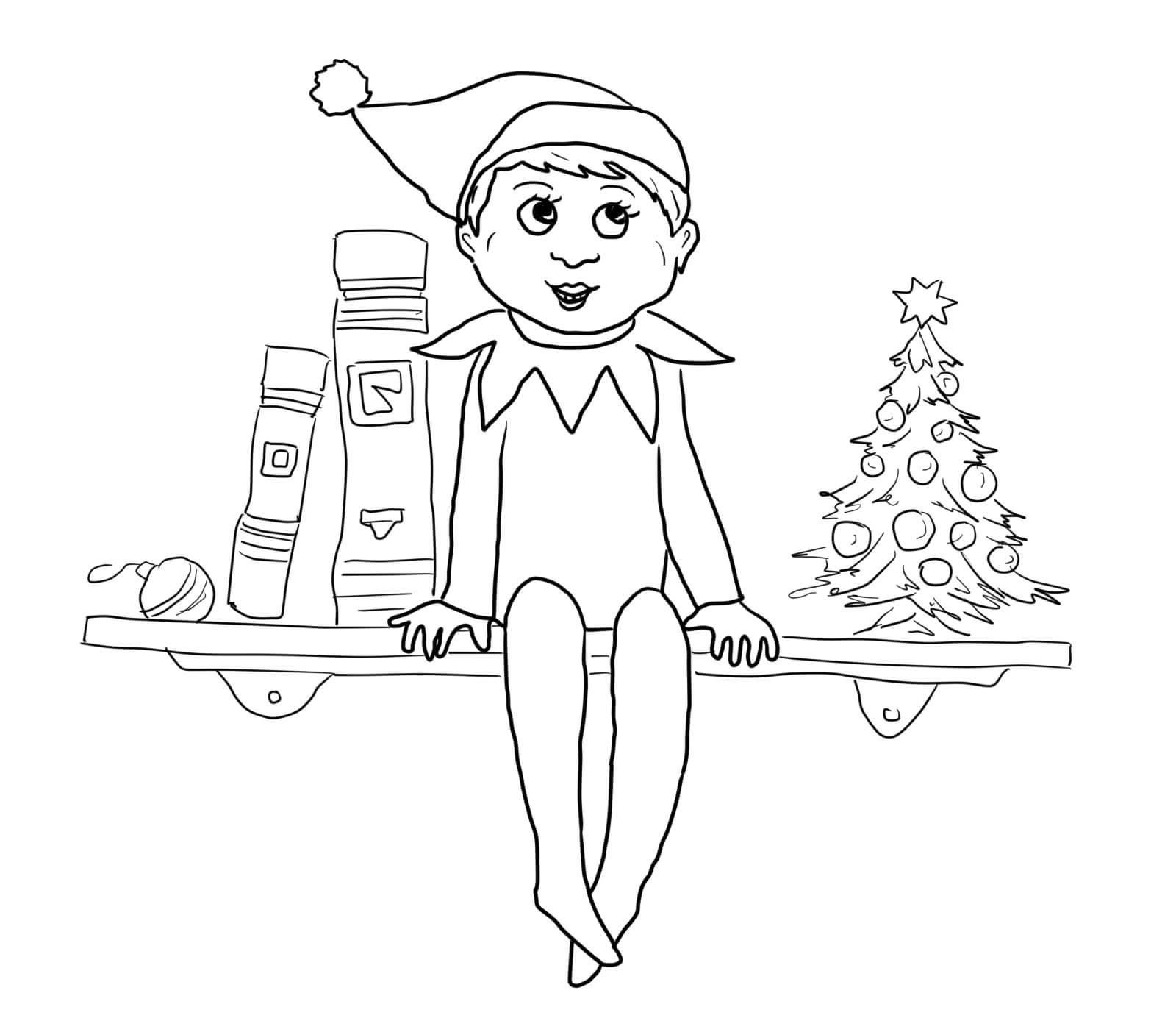 elf on the shelf pictures to color elf on the shelf coloring pages coloring pages for kids to elf pictures color on the shelf