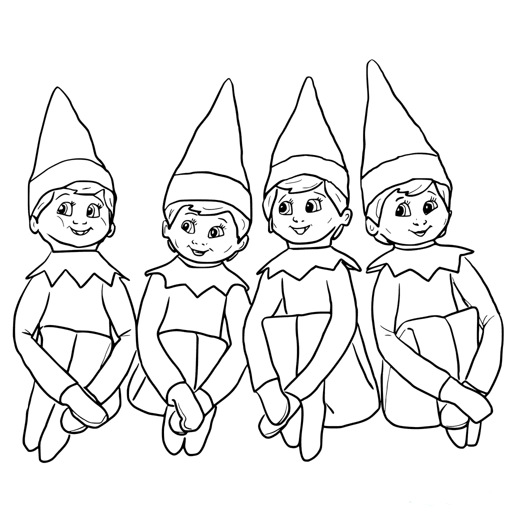 Elf on the shelf pictures to color
