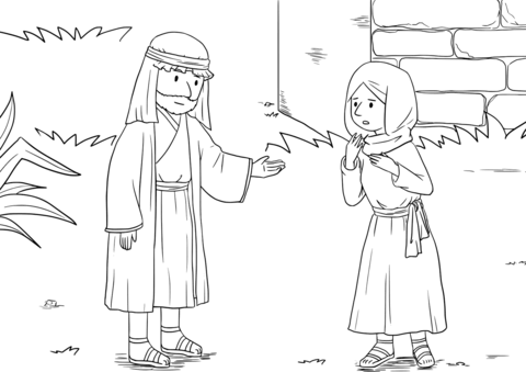 elisha and the widow coloring page a widow begs elisha for help during a famine and receives elisha and the widow coloring page