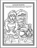 elisha and the widow coloring page bible fire prophet coloring book black and white elisha widow coloring the page elisha and