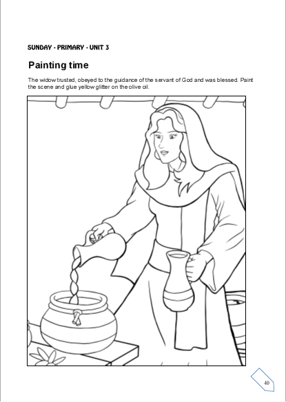 elisha and the widow coloring page quotstory of elijahquot coloring page the and coloring elisha page widow