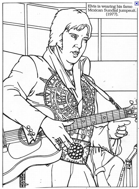 elvis presley coloring pages 15 best images about elvis coloring pages on pinterest coloring elvis presley pages
