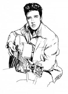 elvis presley coloring pages 15 best images about elvis coloring pages on pinterest elvis presley pages coloring