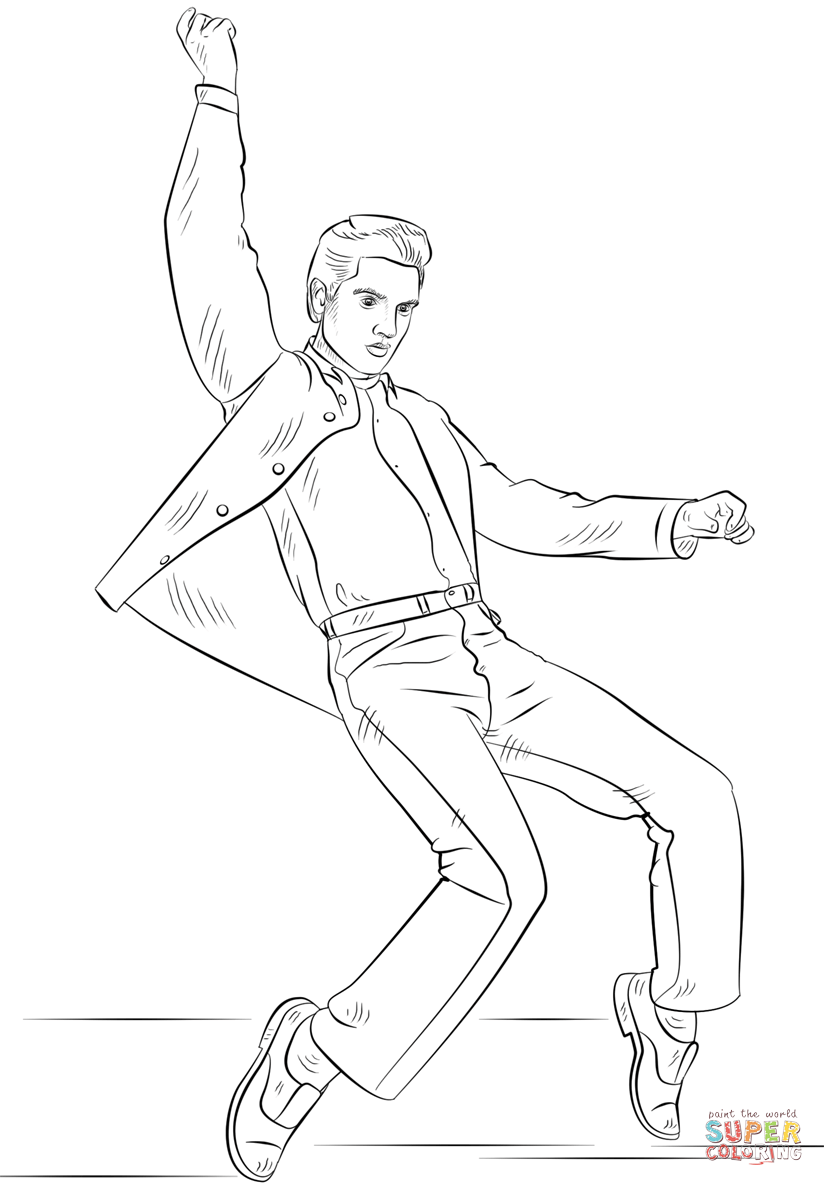 elvis presley coloring pages king of rock39n39roll elvis presley coloring page pintable presley elvis coloring pages
