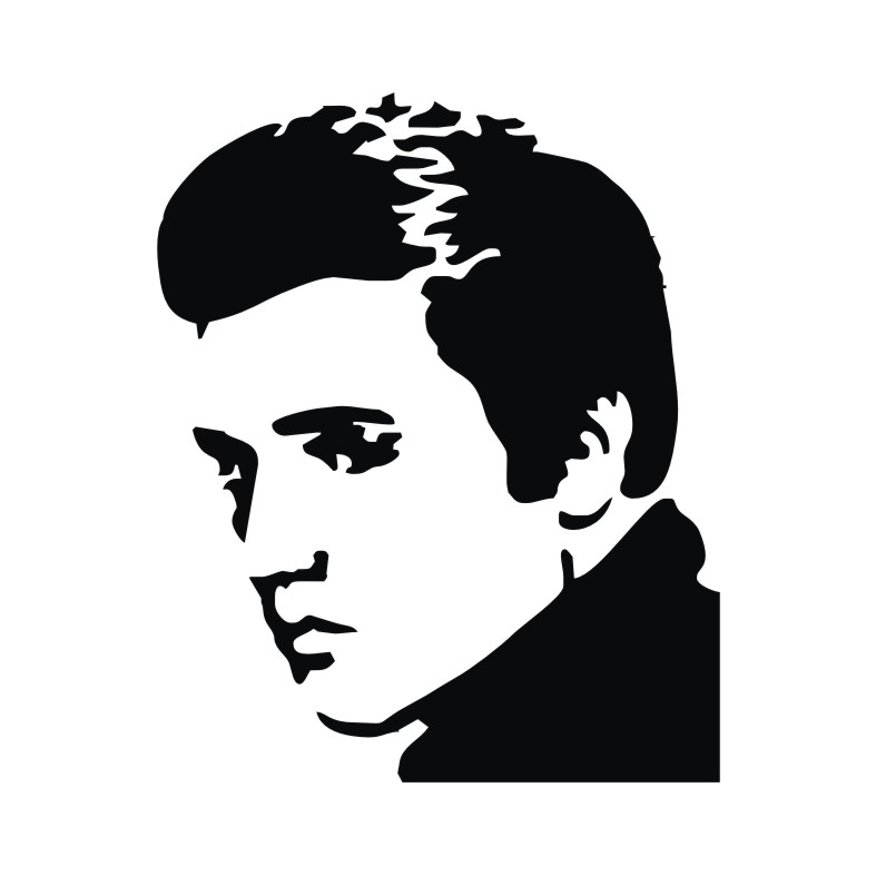 elvis presley outline musicline and whiteclip outline elvis presley drawing outline elvis presley