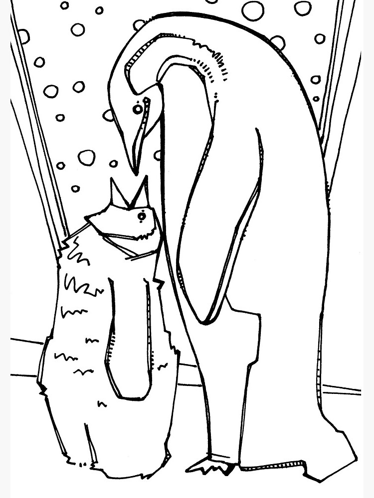 emperor penguin coloring page quotemperor penguin coloring book pagequot spiral notebook by emperor penguin page coloring