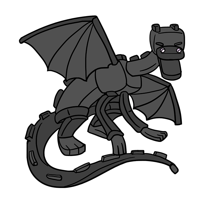 ender dragon drawing how to draw ender dragon from minecraft really easy drawing dragon ender