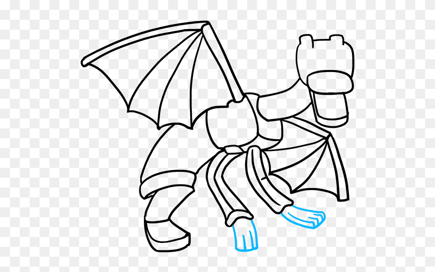 ender dragon drawing how to draw ender dragon step by step video game dragon ender drawing