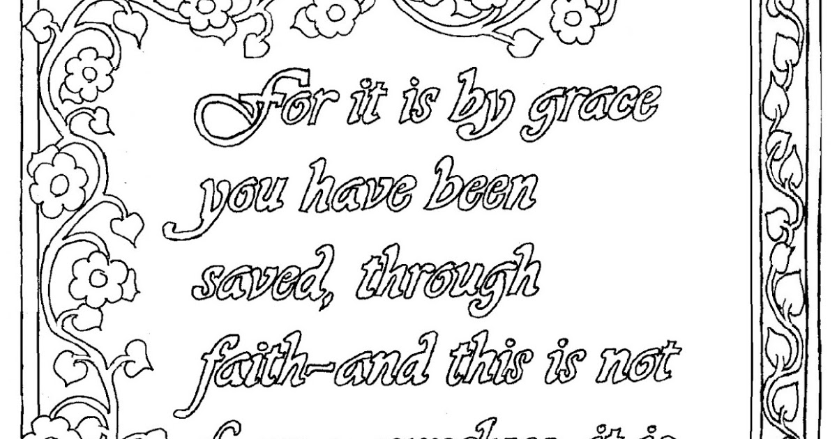 ephesians 2 8 coloring page coloring pages for kids by mr adron ephesians 28 9 page 8 2 coloring ephesians