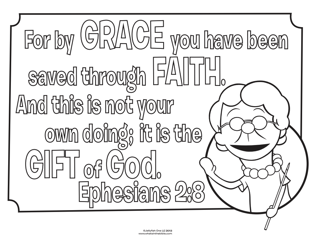 Ephesians 2 8 coloring page