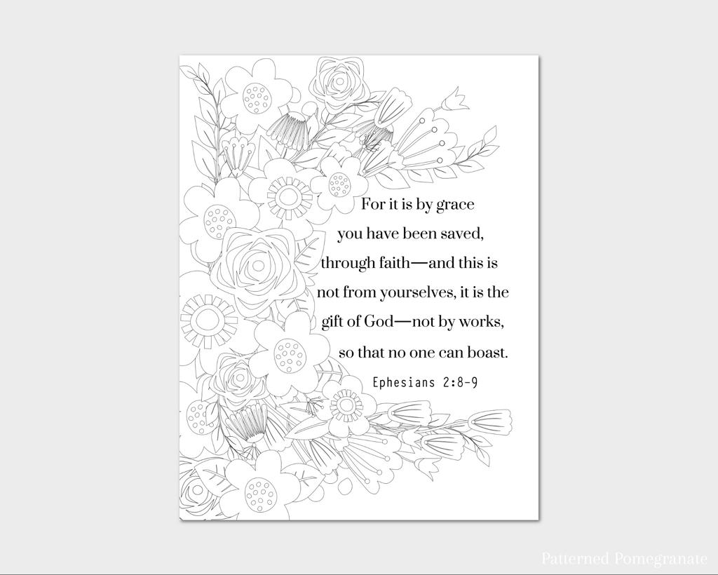 ephesians 2 8 coloring page the prudent pantry for we are god39s handiwork coloring page 8 coloring ephesians page 2