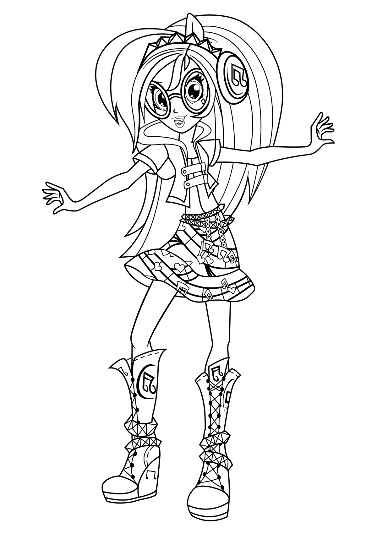 equestria girls mlp coloring page rainbow rocks equestria girls coloring pages sketch coloring girls page equestria mlp