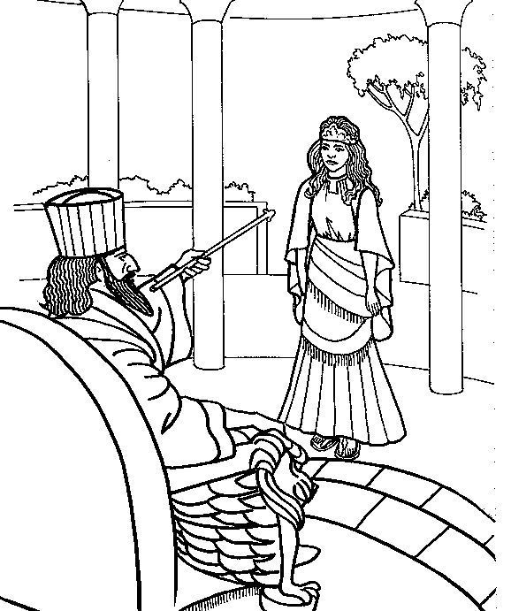 esther bible coloring pages esther coloring pages at getdrawings free download bible coloring esther pages