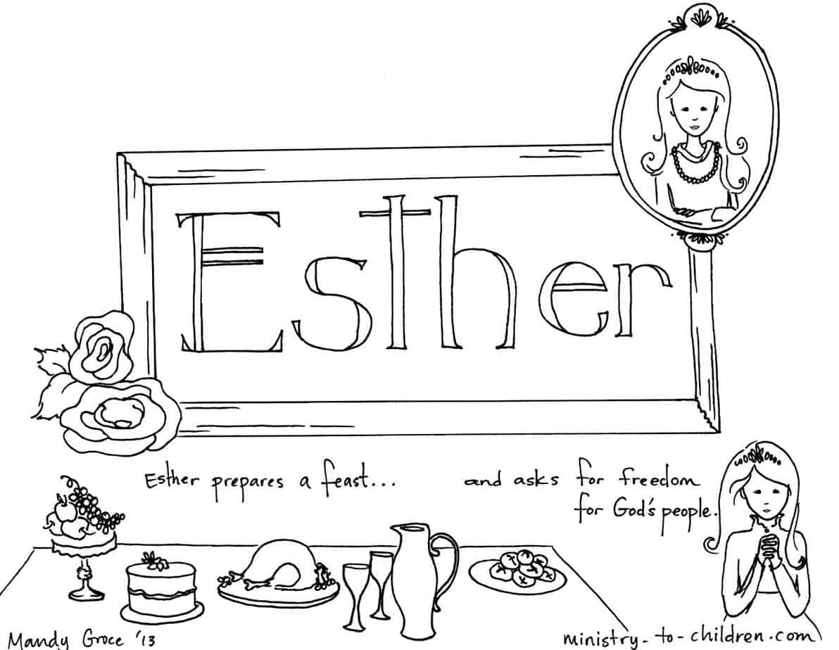 esther bible coloring pages esther preschool bible lesson trueway kids pages coloring esther bible