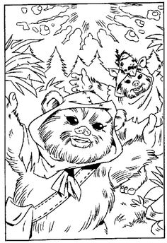 ewok coloring pages 35 best ewok birthday party images ewok star wars party ewok coloring pages