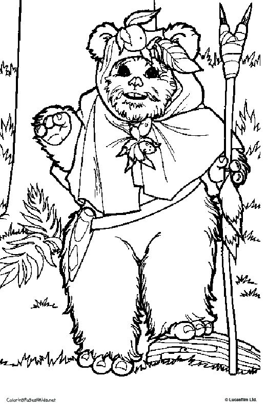 ewok coloring pages 35 best ewok birthday party images on pinterest star coloring pages ewok