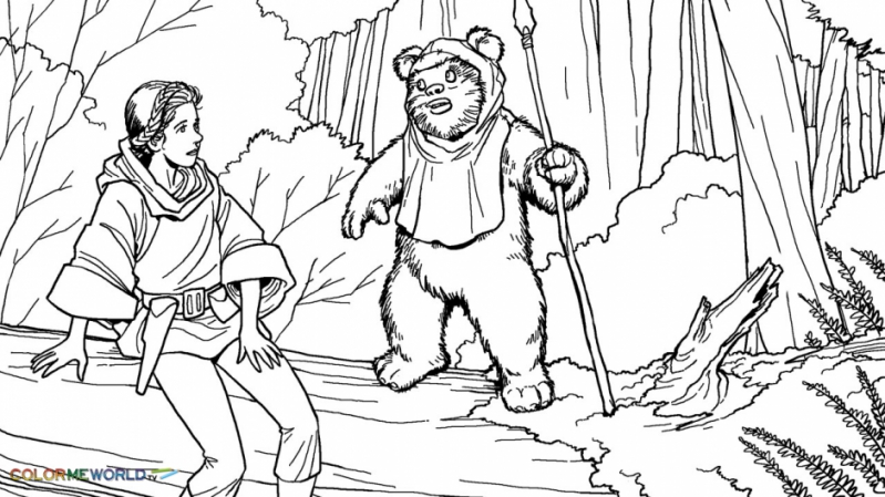 ewok coloring pages ewok coloring page at getdrawings free download ewok pages coloring