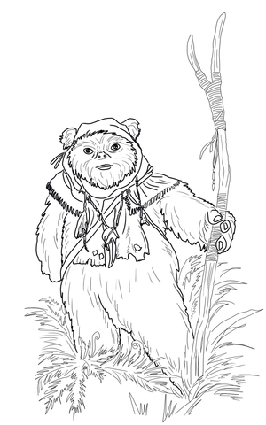 ewok coloring pages ewok coloring page supercoloringcom ewok coloring pages