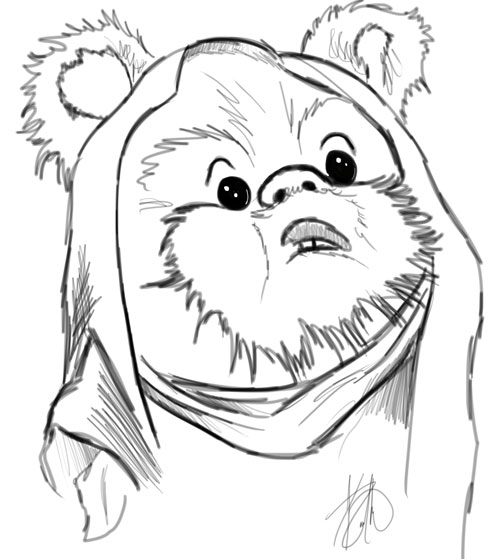 ewok coloring pages ewok sketch work by keith quintanilla on deviantart coloring ewok pages