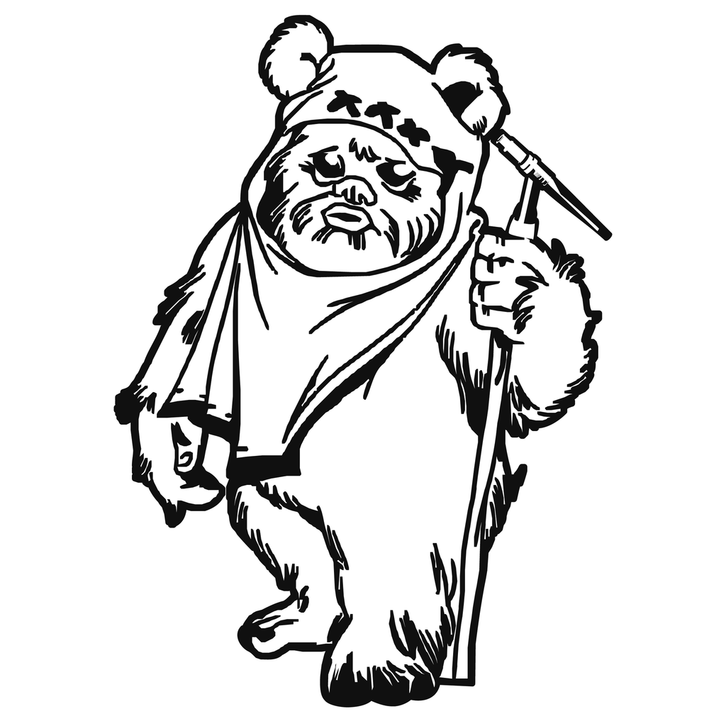 ewok coloring pages ewok tig torch arc empire ewok pages coloring