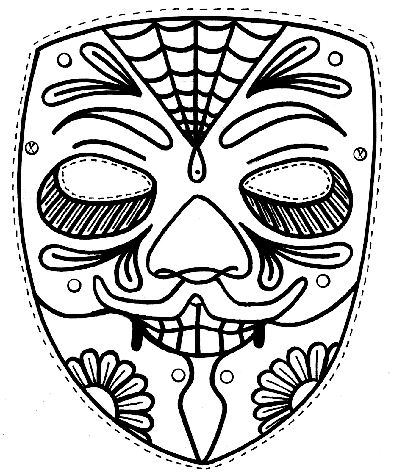 Face mask coloring pages