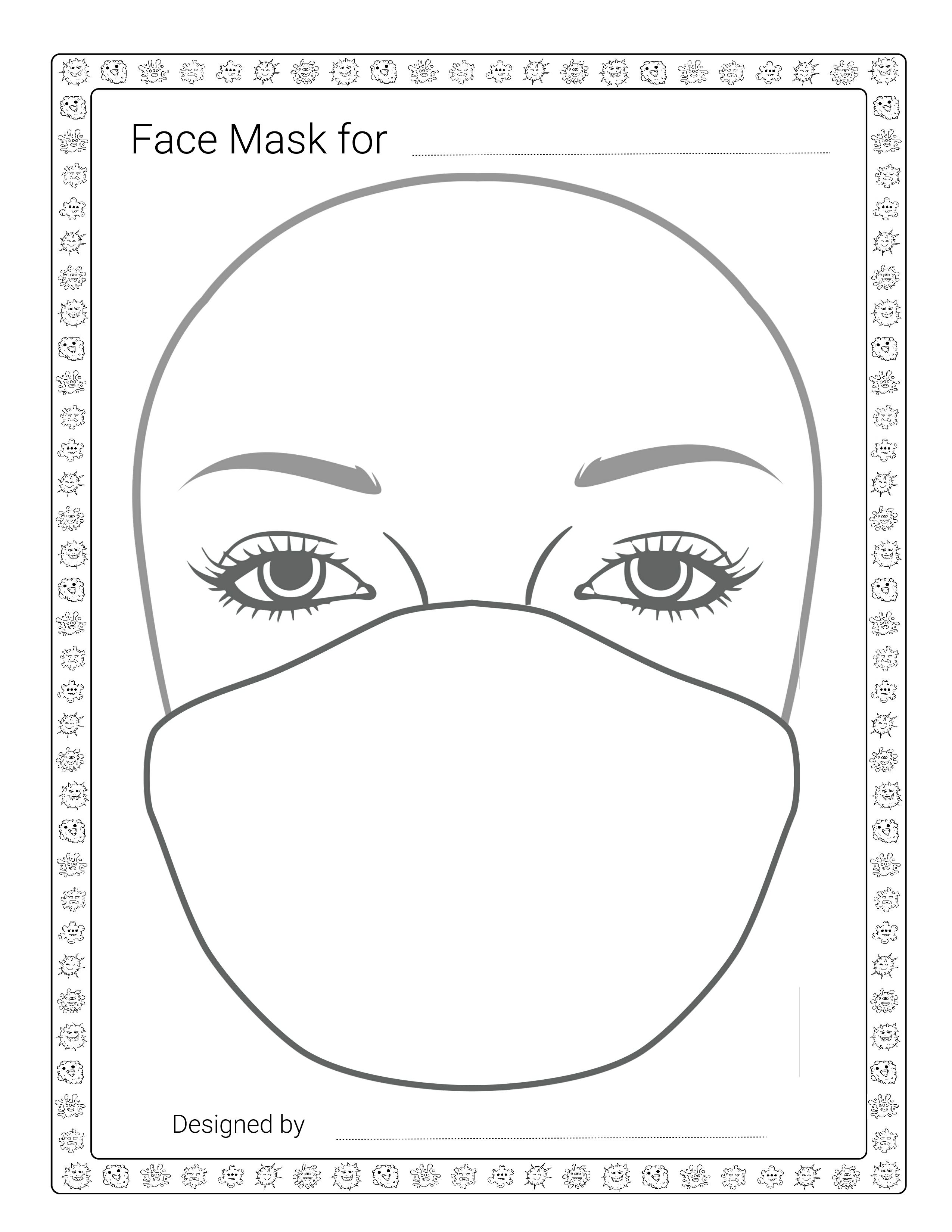 face mask coloring pages pin on reusable face masks diy homemade face mask coloring pages