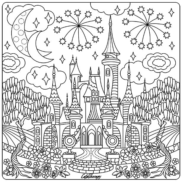 fairy castle coloring pages fairy castle drawing at getdrawings free download castle fairy pages coloring