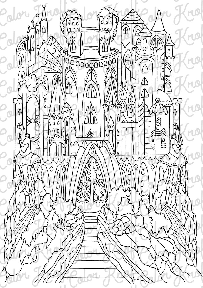 fairy castle coloring pages fairy castle printable instant download coloring page in coloring castle pages fairy