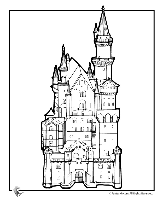 fairy castle coloring pages fairytale castle color therapy app is fun and relaxing castle coloring pages fairy
